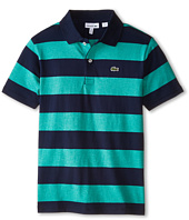 Lacoste Kids - Short Sleeve Bold Stripe Jersey Polo (Infant/Toddler/Little Kids/Big Kids)