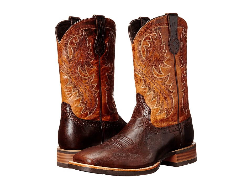 Ariat - QuickDraw (Thunder Brown/Two-Tone Tan) Cowboy Boots