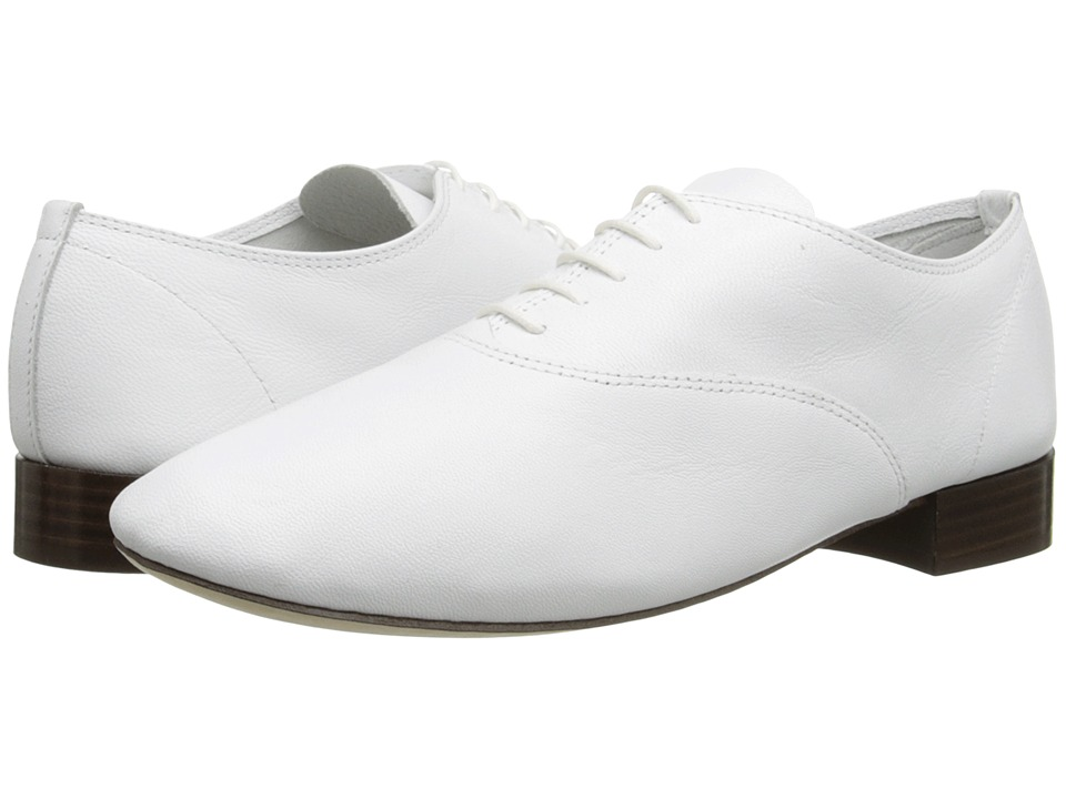 Repetto - Zizi F (Goatskin White) Womens 1-2 inch heel Shoes