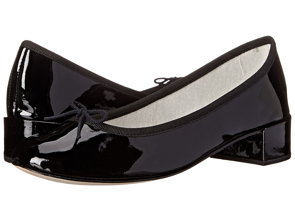 Repetto Camille Patent Black Womens 1 2 inch heel Shoes