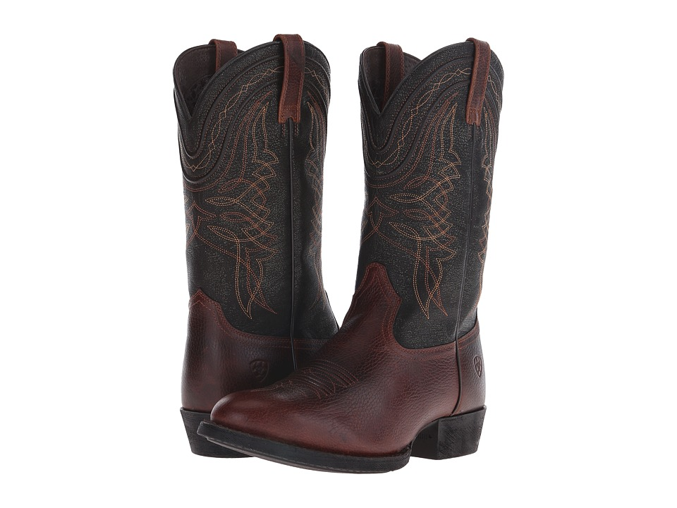 Ariat Comeback (Plank Brown/Black Brush-Off) Cowboy Boots