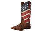Roper American Flag Round Toe Boot (Brown)