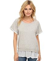 Seven7 Jeans - Short Sleeve Chiffon Sweatshirt