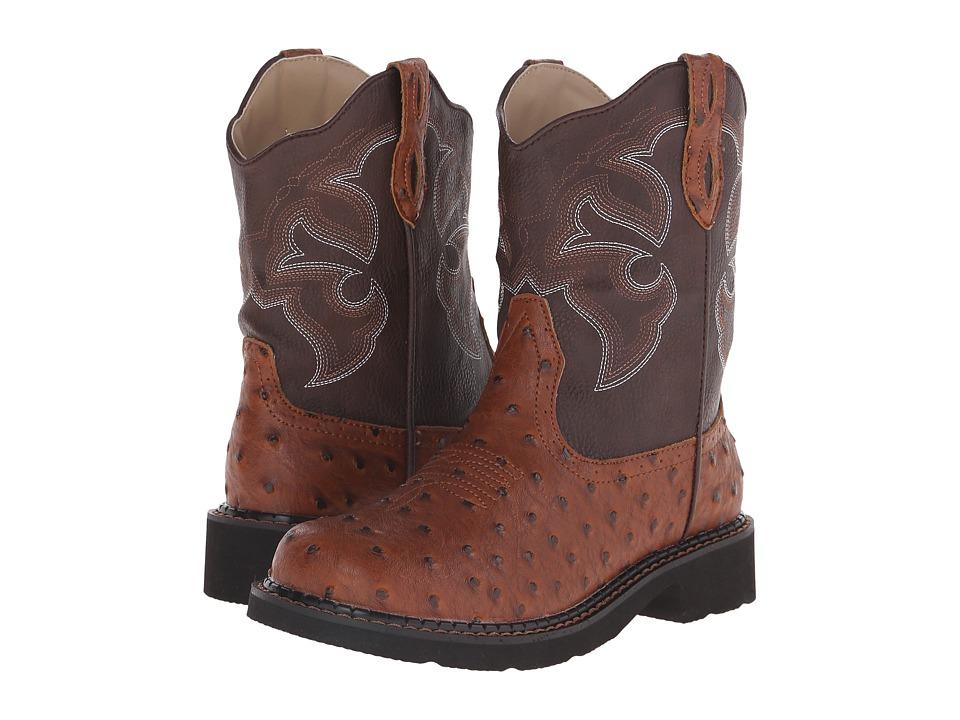 Roper Chunk Rider (Light Beige Faux Ostrich) Cowboy Boots