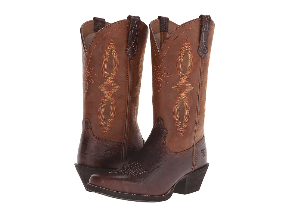 Ariat - Round Up Square Toe II (Acorn/Tan) Cowboy Boots