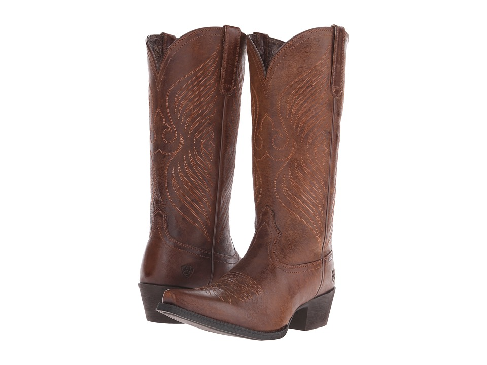 Ariat - Round Up X Toe (Wood) Cowboy Boots
