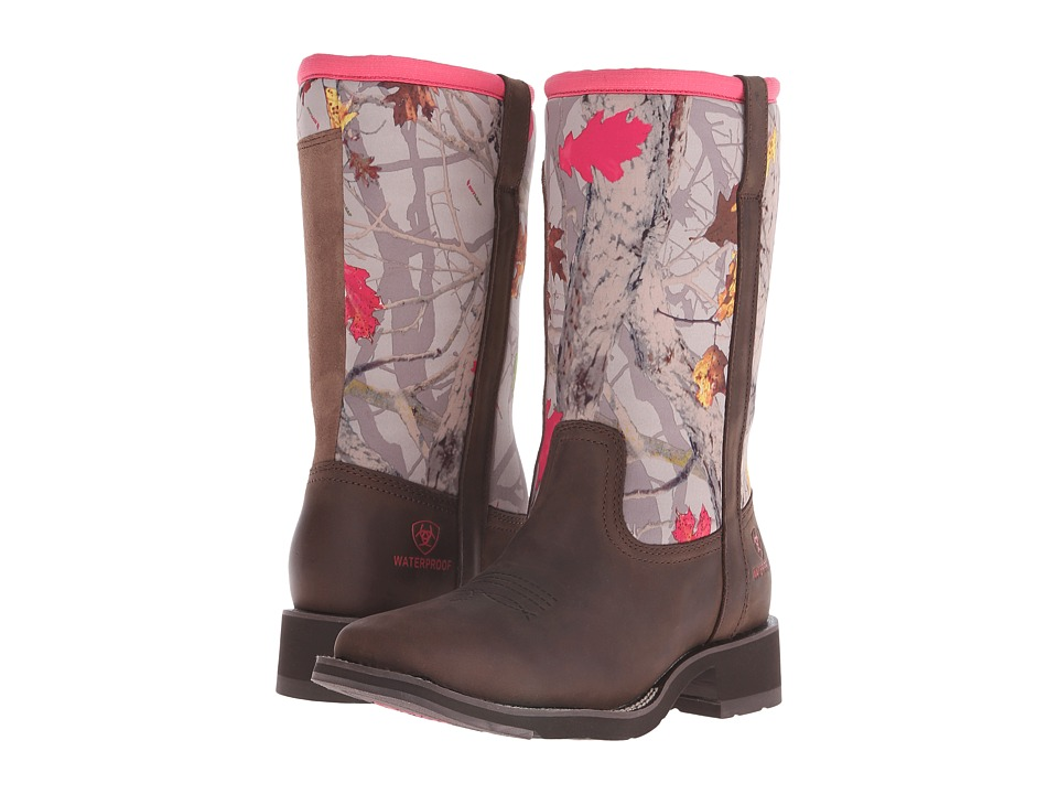 Ariat Fatbaby All Weather (Palm Brown/Hot Leaf Neoprene) Cowboy Boots