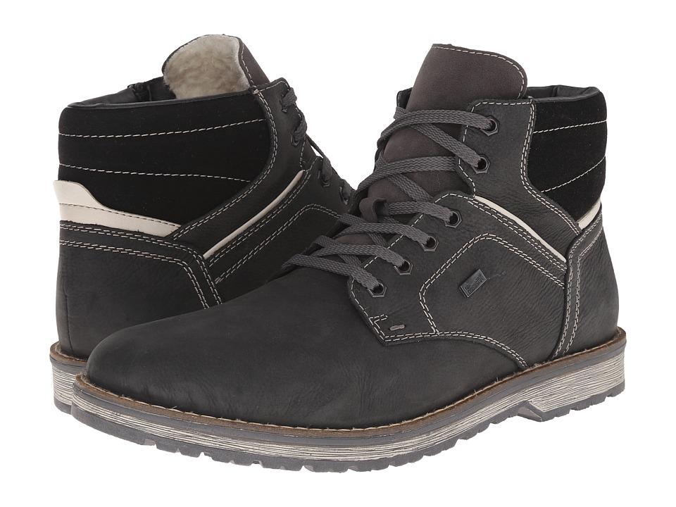 Rieker 39223 Carbon Kalabrien/Champignon Kalkutta/Schwartz Virage Mens Boots