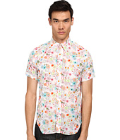 Mark McNairy New Amsterdam - Short Sleeve Floral Dot Button Down
