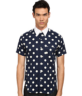 Mark McNairy New Amsterdam - Short Sleeve Polka Dot Button Down