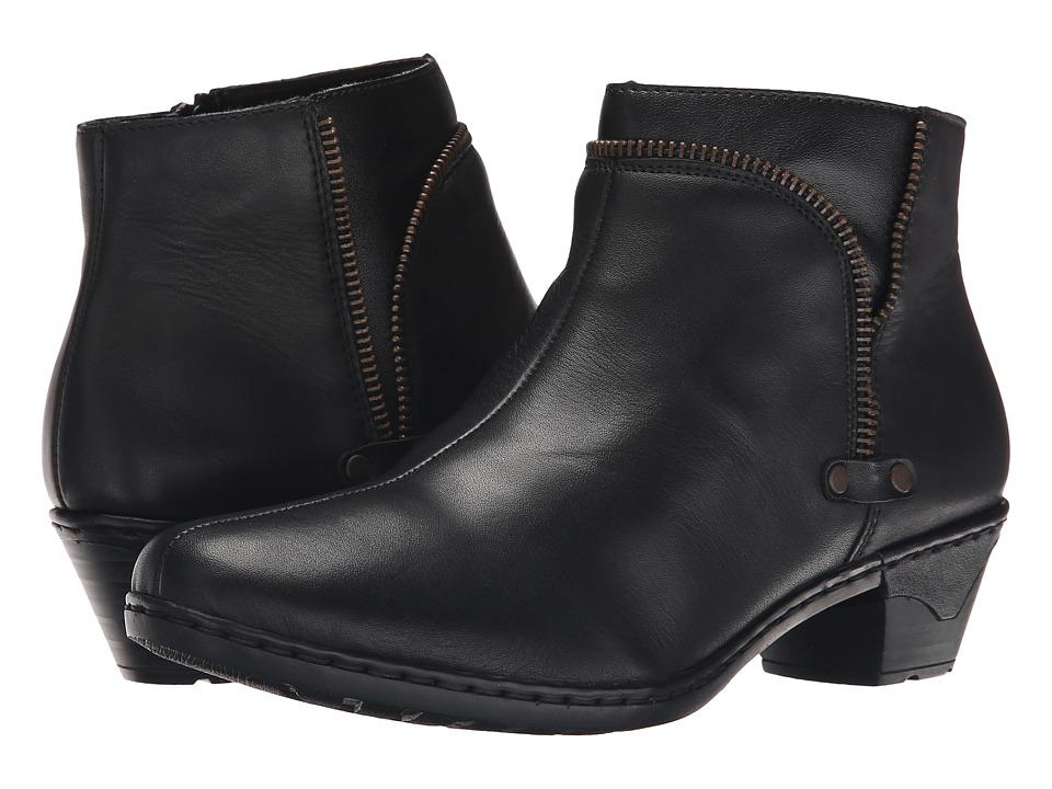 Rieker - 76970 (Black Cristallino/Black Fino) Women