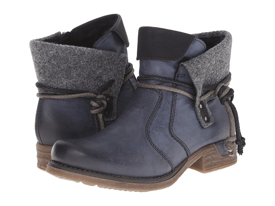 Rieker 79693 (Ozean Eagle/Schwarz Mombasa/Granite Filz) Women's Dress Boots