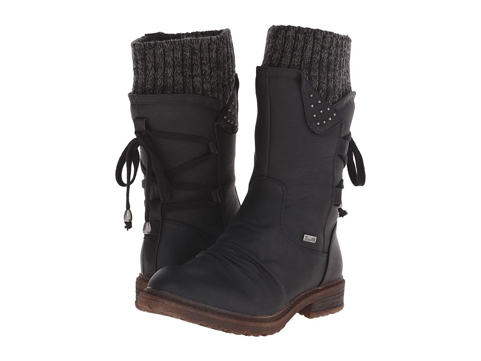 Rieker - 94773 (Schwarz Belinga/Black/Grey Knitwear) Women