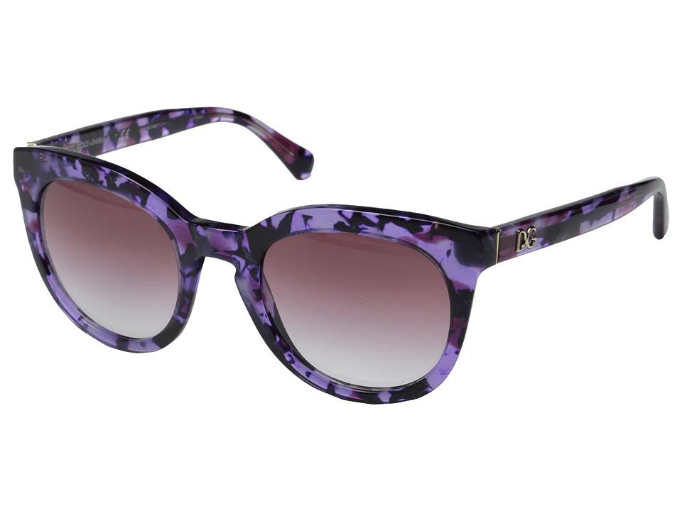 Dolce & Gabbana DG4249 (Violet Marble/Violet Gradient) Fa...