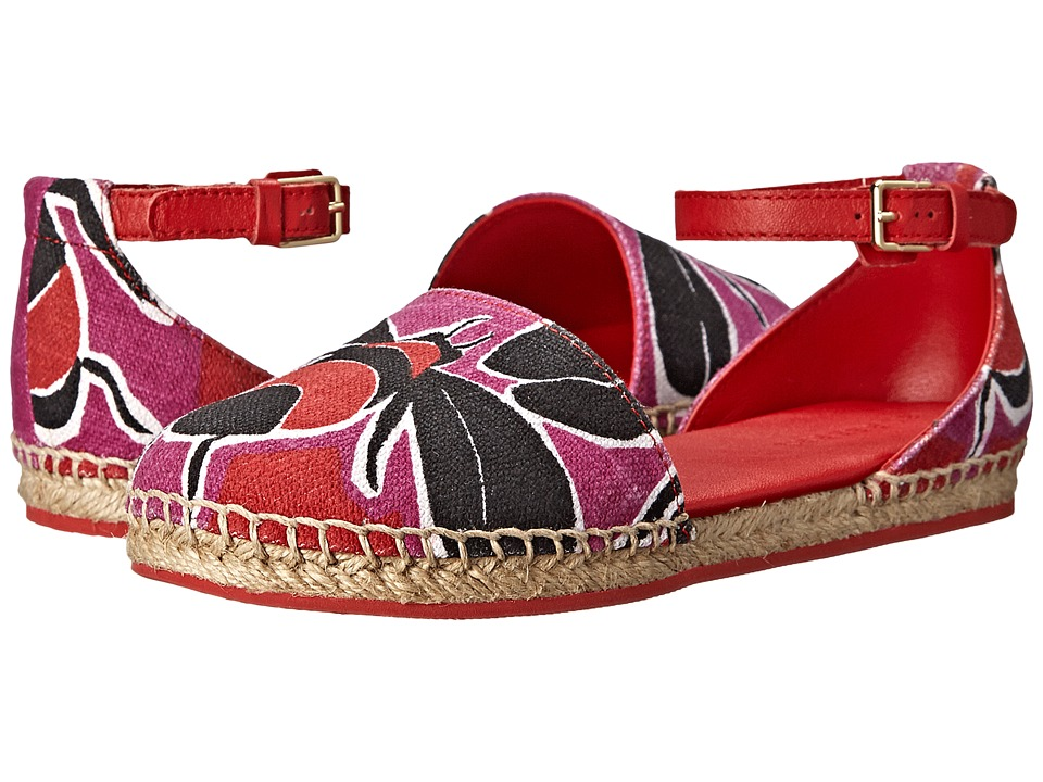 Burberry Kids Sandal Espadrille (Toddler/Little Kid) (Cherry Pink) Girls Shoes