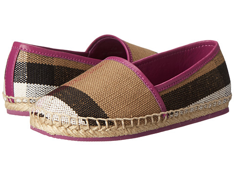 Burberry Kids Espadrille with Check (Toddler) - Magenta Pink