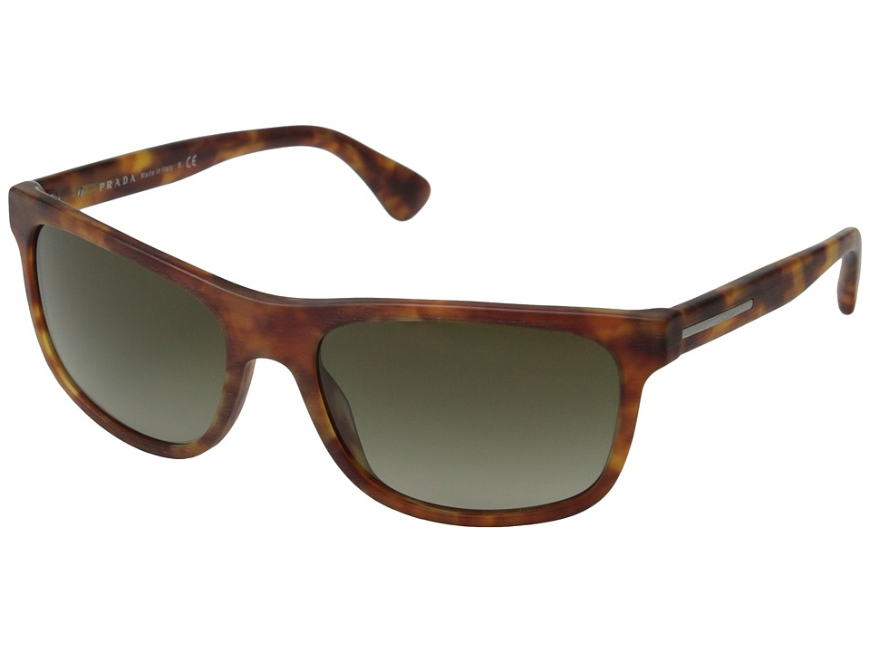 Prada PR 15RS Matte Brushed Light Havana/Brown Gradient Fashion Sunglasses