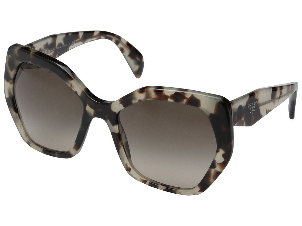 Prada PR 16RS Spotted Opal Brown/Light Brown Gradient Fashion Sunglasses