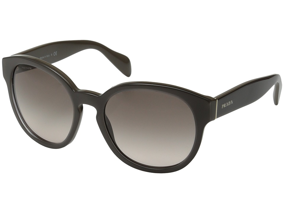 Prada PR 18RS Opal Brown/Pink Gradient Grey Fashion Sunglasses