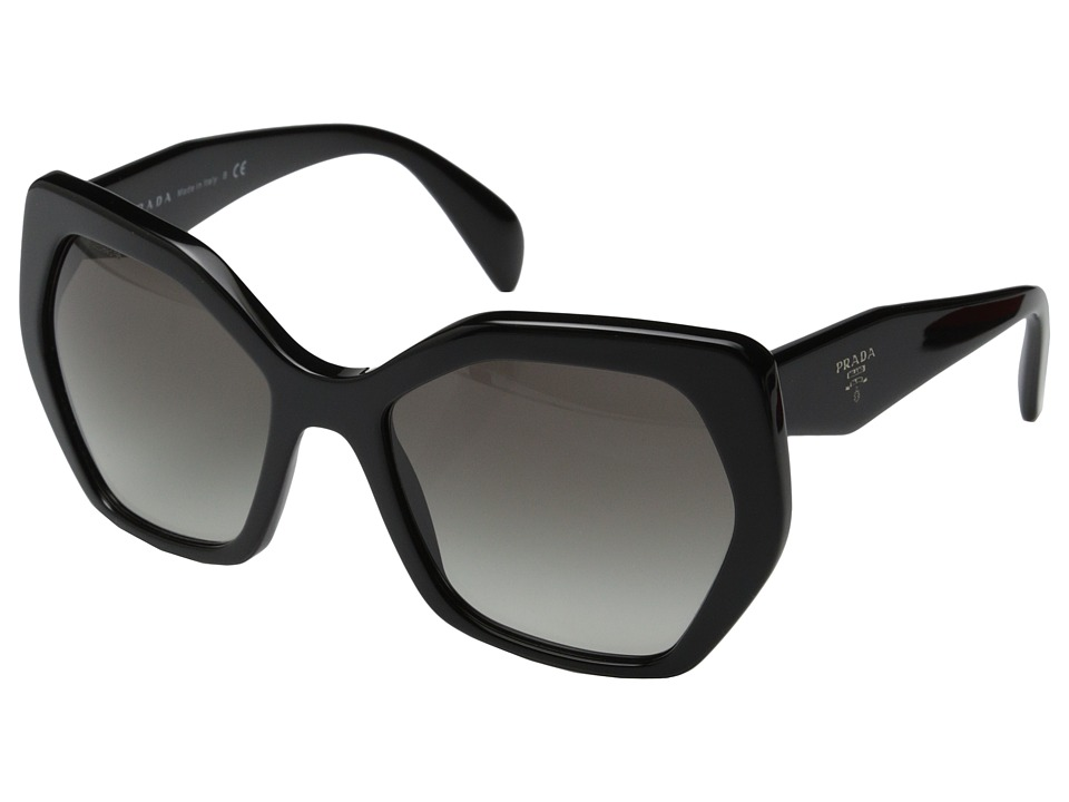 Prada PR 16RS Black/Grey Gradient Fashion Sunglasses