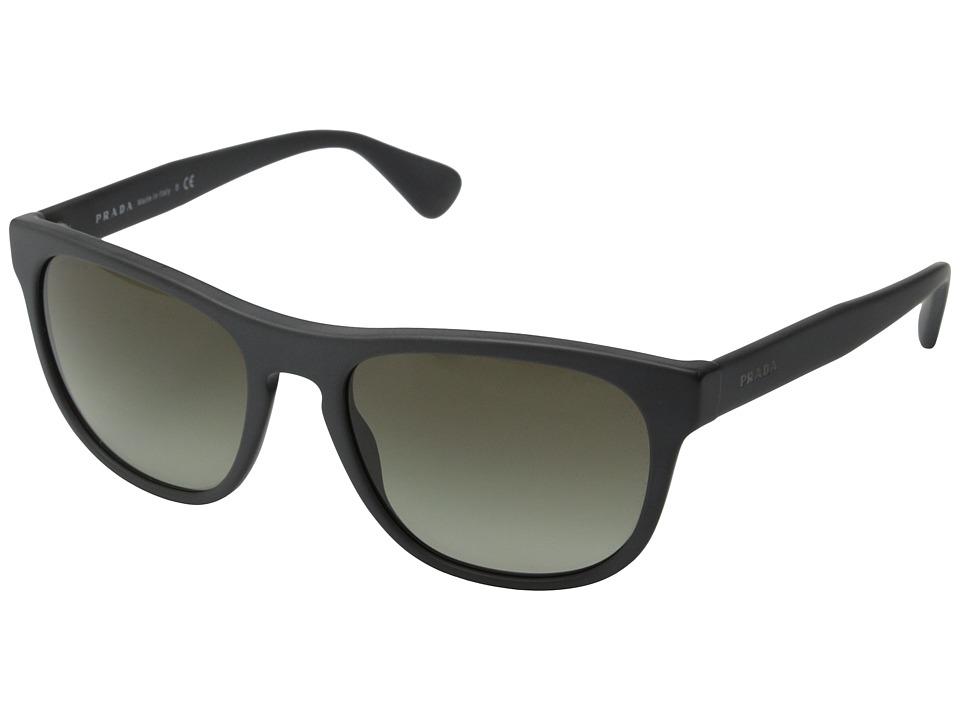 Prada PR 14RS Matte Grey/Brown Gradient Fashion Sunglasses