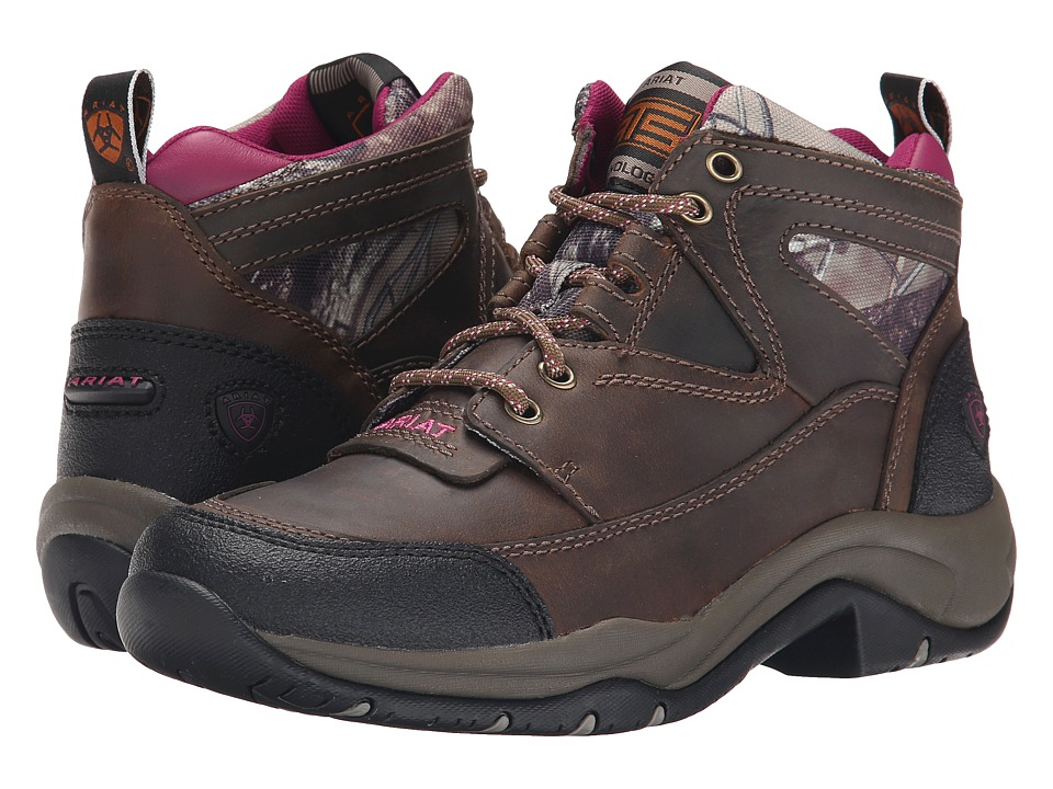 Ariat - Terrain (Distressed Brown/Camo) Womens Lace-up Boots