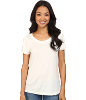 Dylan by True Grit - Short Sleeve Tee w/ Chiffon Back