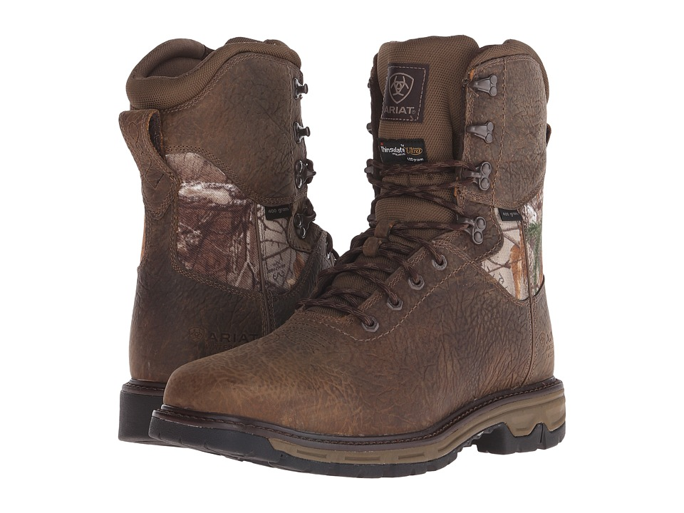 Ariat Conquest 8 H2O Insulated 400G (Ash Brown) Men