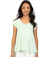 Dylan by True Grit - High-Low Stitches V-Neck Top