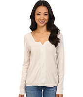 Dylan by True Grit - Long Sleeve Peasant Top w/ Shimmer Stripe