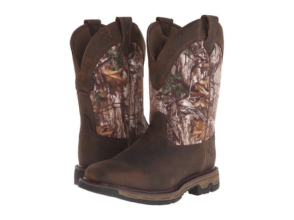 Ariat Conquest Pull-On H2O Insulated 400G (Ash Brown/Real Tree Xtra) Men