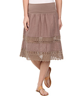 Dylan by True Grit - Crochet Panel Flirt Skirt