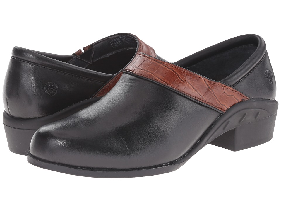 Ariat - Sport Clog (Black/Brown Croc) Women