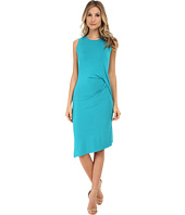 MICHAEL Michael Kors - Sleeveless Open Crew Neck Drape Dress