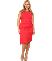 MICHAEL Michael Kors - Plus Size Sleeveless Open Crew Neck Drape Dress