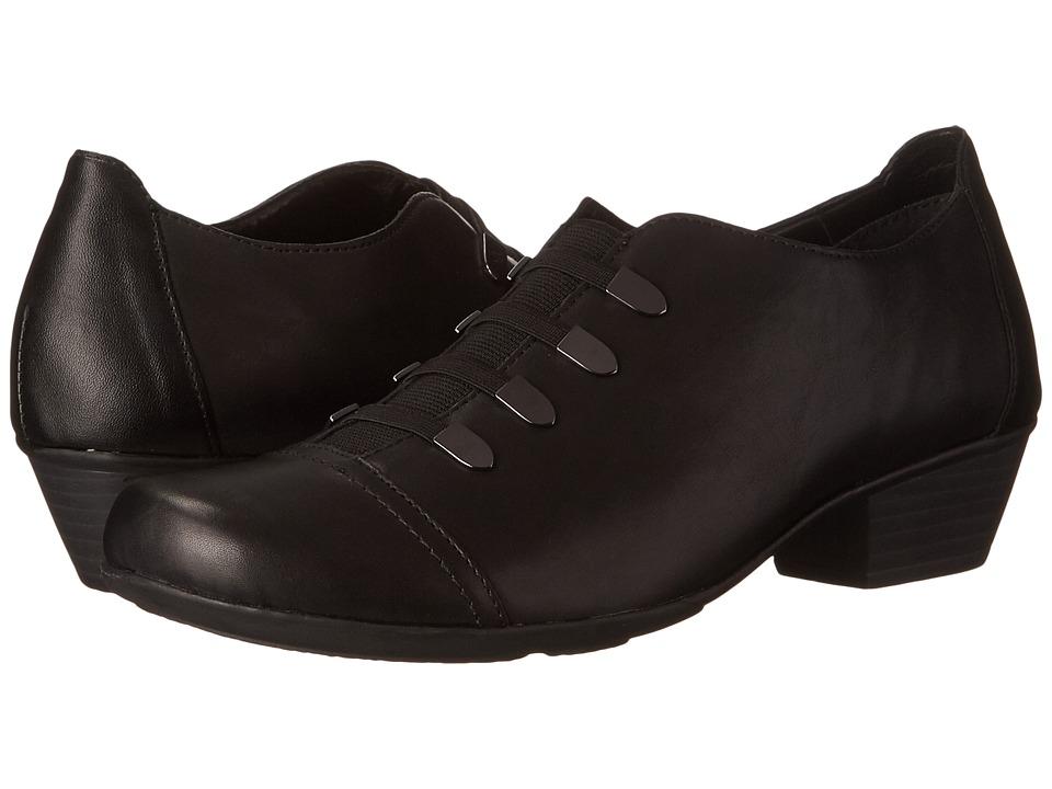 Rieker - D7332 (Black Cristallino/Black Fino) Women
