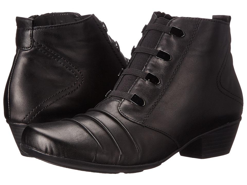Rieker - D7381 (Black Cristallino/Black Fino) Women