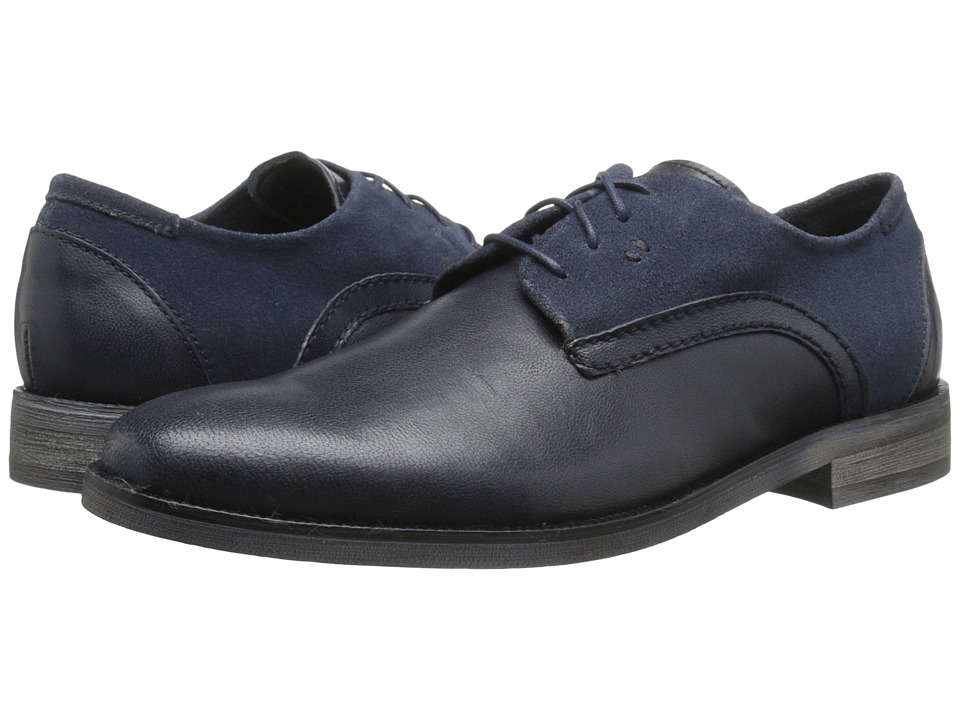 Stacy Adams Barstow Navy Mens Plain Toe Shoes