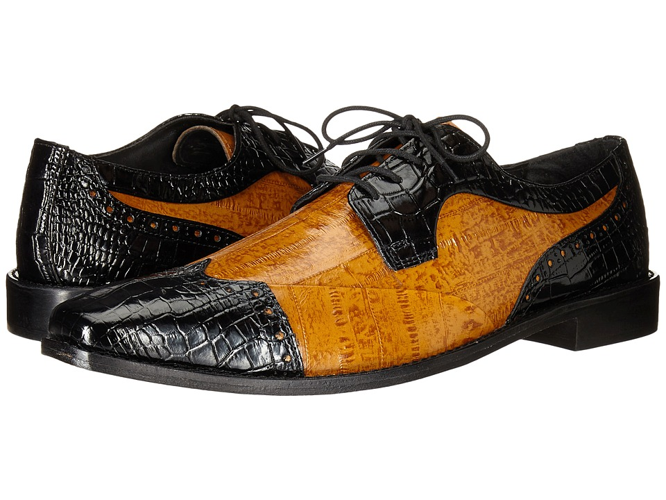 Stacy Adams - Galletti (Black/Butterscotch) Men