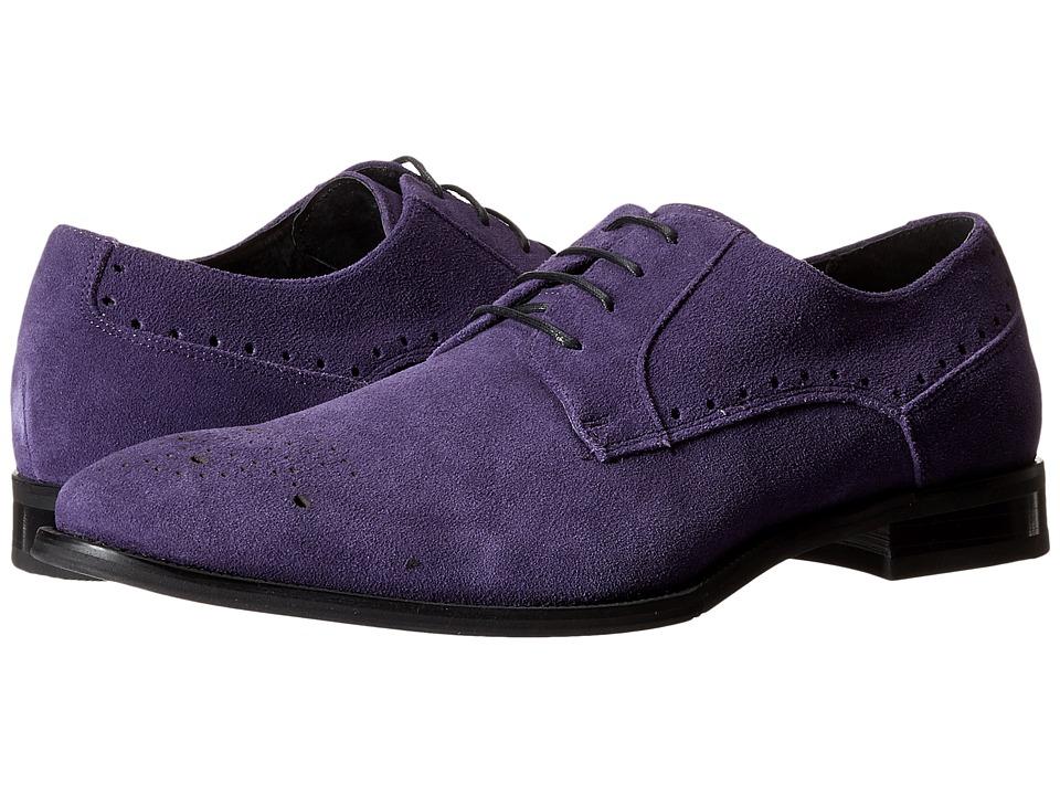 Stacy Adams Kensingston Purple Suede Mens Plain Toe Shoes