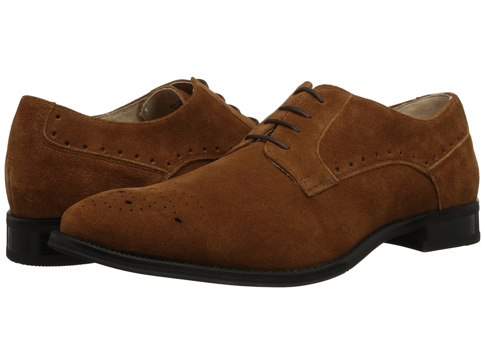 Stacy Adams Kensingston Camel Suede Mens Plain Toe Shoes