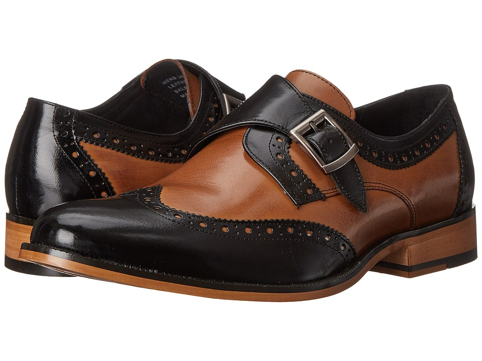 Mens Vintage Style Shoes| Retro Classic Shoes Stacy Adams - Stratford BlackTan Mens Monkstrap Shoes $110.00 AT vintagedancer.com