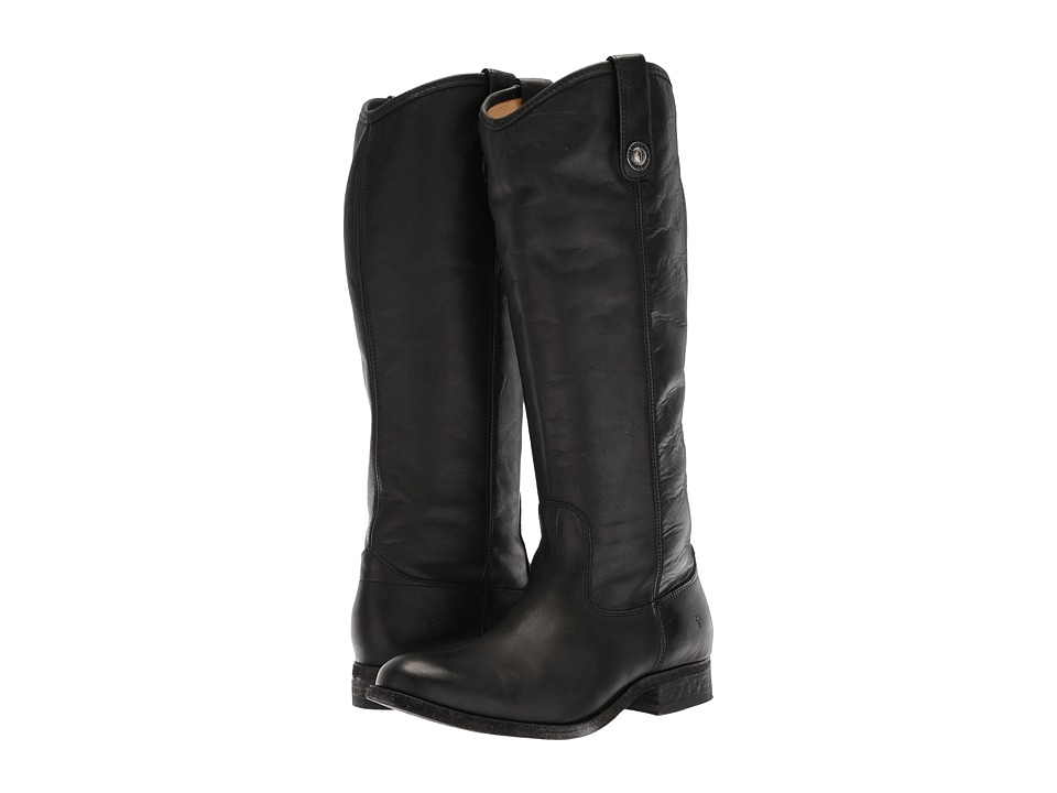 Frye - Melissa Button Boot Extended (Black Extended) Cowboy Boots