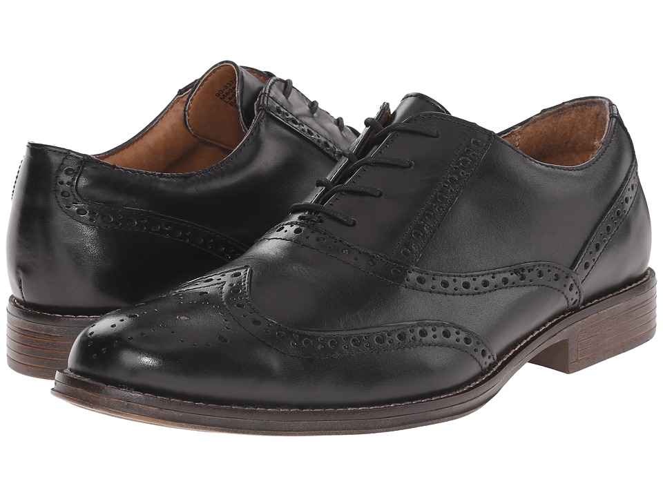 Dockers Corinth Black Polished Full Grain Mens Lace Up Wing Tip Shoes