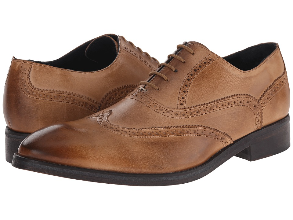 Messico Ciro Burnt Crust Leather Mens Flat Shoes