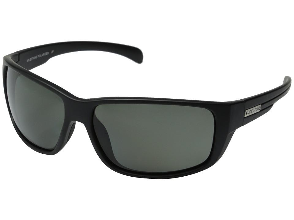 SunCloud Polarized Optics Milestone Matte Black Frame/Gray Polarized Polycarbonate Lenses Fashion Sunglasses
