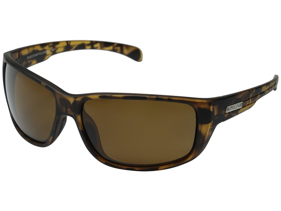 SunCloud Polarized Optics Milestone Matte Tortoise Frame/Brown Polarized Polycarbonate Lenses Fashion Sunglasses