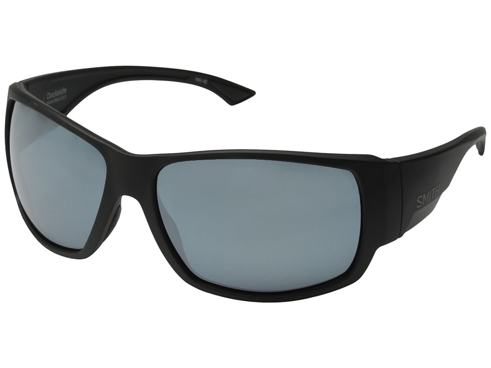 Smith Optics - Dockside (Matte Black/Polar Platinum Chromapop Lenses) Fashion Sunglasses