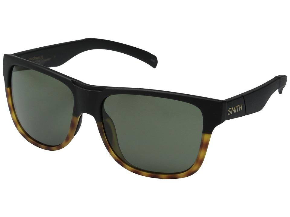 Smith Optics Lowdown XL Matte Black Fade Tortoise/Gray Green Carbonic TLT Lenses Fashion Sunglasses