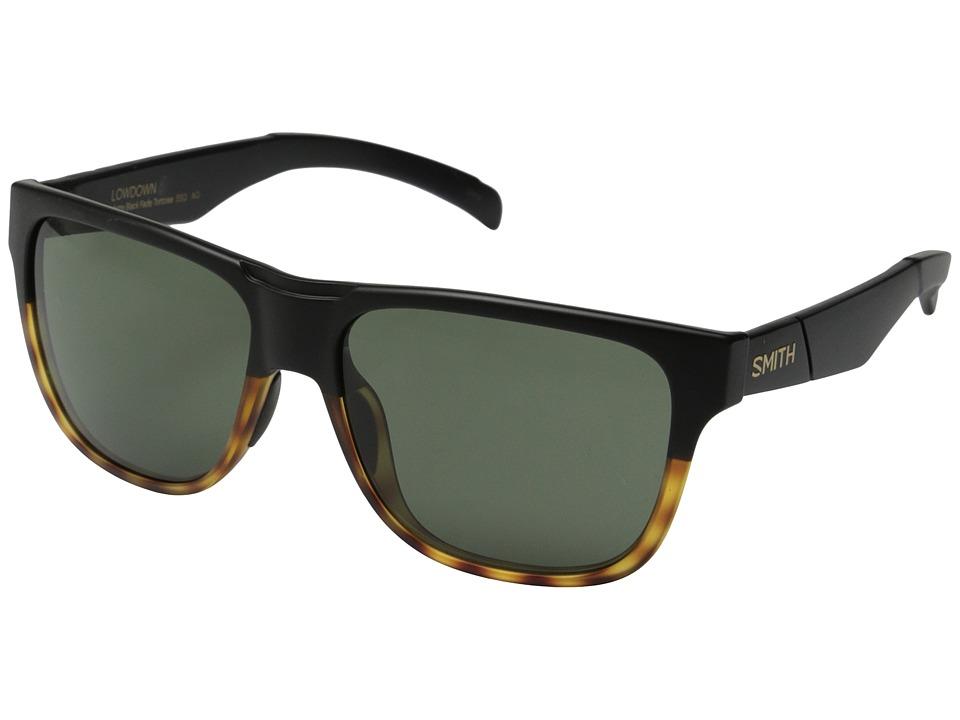 Smith Optics Lowdown Matte Black Fade Tortoise/Gray Green Carbonic TLT Lenses Fashion Sunglasses